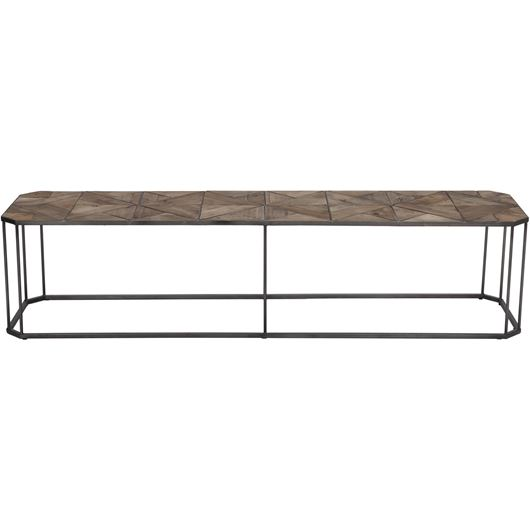 Picture of NIKS coffee table 180x45 natural/black