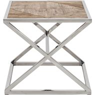 Picture of EXA side table 60x60 natural/stainless steel