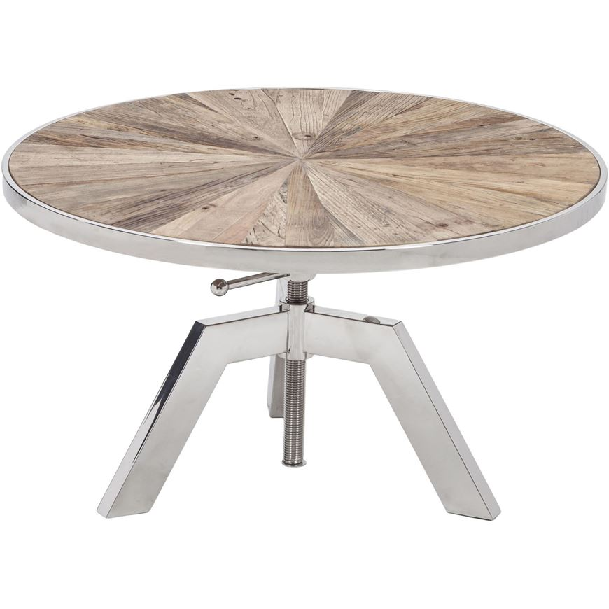 Picture of KANE side table d80cm natural/stainless steel