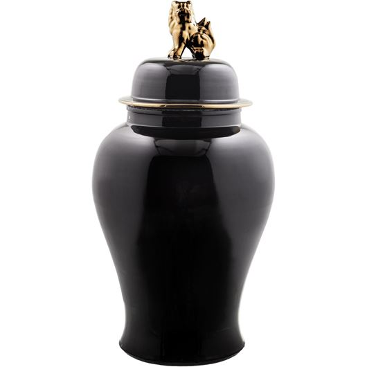 Picture of GENO jar with lid h116cm black/gold
