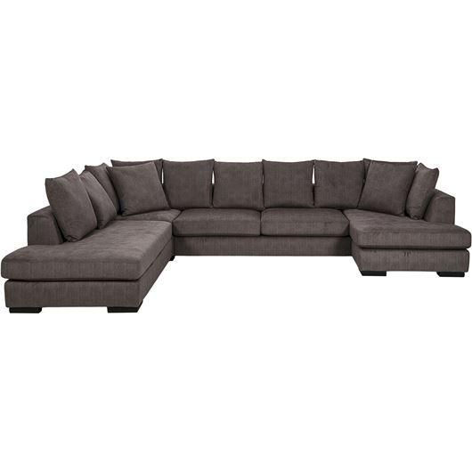 PASO sofa U shape Left brown