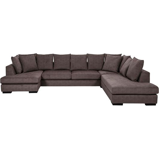 Picture of PASO sofa U shape Right brown