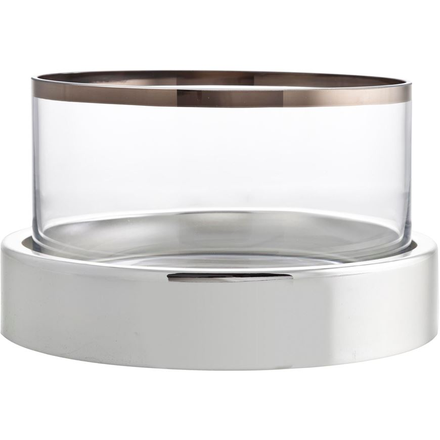 Picture of EMPIRE tea light holder h15cm clear/silver