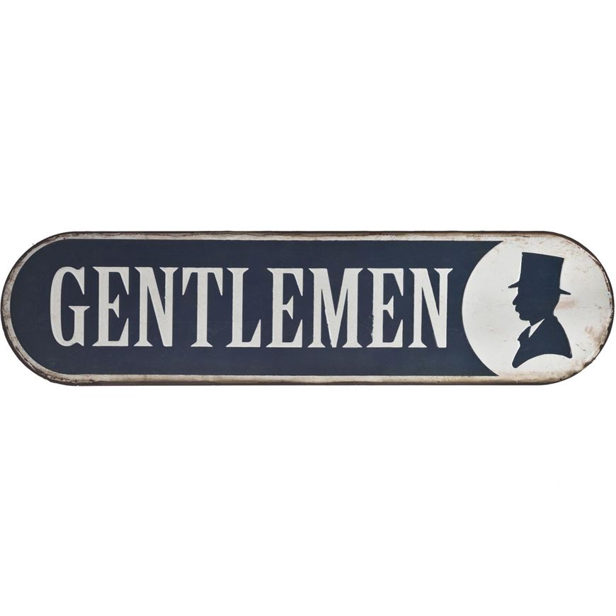 GENTLEMEN wall decoration 51x13 white| THE One. THE One: Where Price ...
