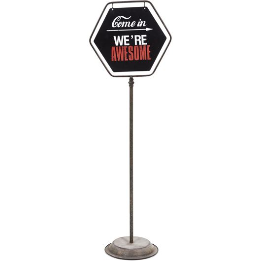 Picture of AWESOME stand decoration h113cm black