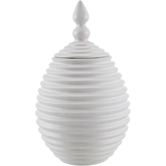 Picture of EASTERN urn h27cm white