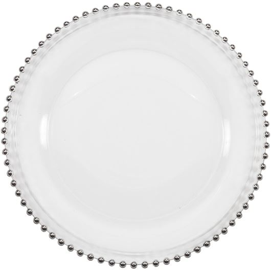 Picture of JOUNI charger plate d33cm clear