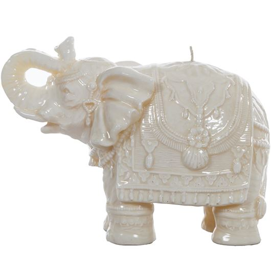 Picture of ELEPHANT candle h16cm cream