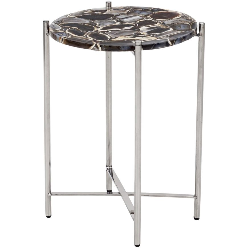 Picture of BRIAR side table d39cm silver/black