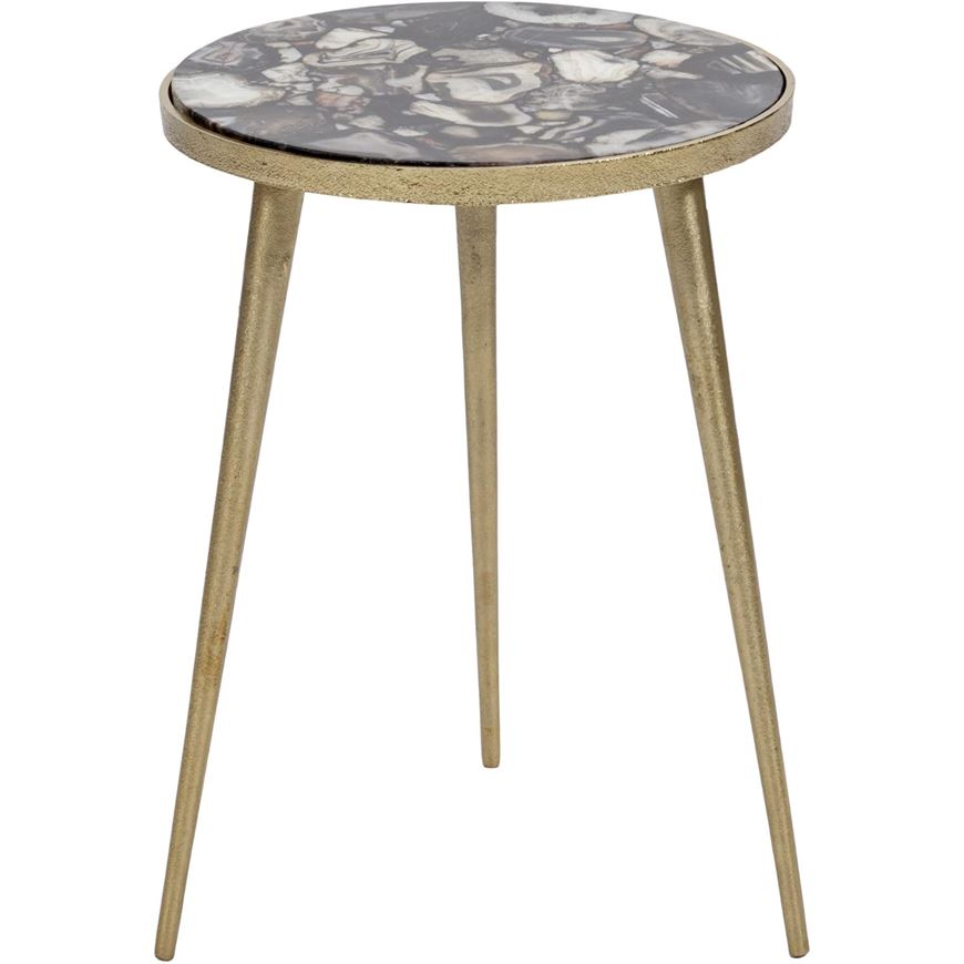 Picture of ADON side table d37cm gold/black