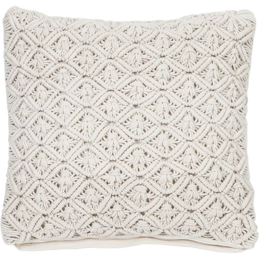 Picture of MACRAME cushion cover 50x50 cream