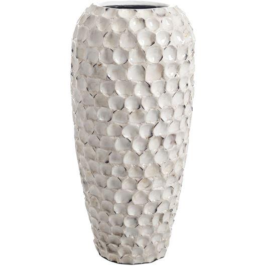 Picture of COQUINA vase h42cm cream