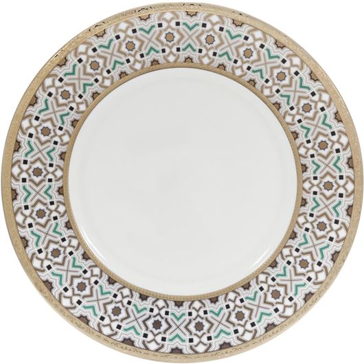 Picture of KENRIC dinner plate d27cm blue/gold