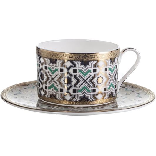 Picture of KENRIC tea cup and saucer blue/gold