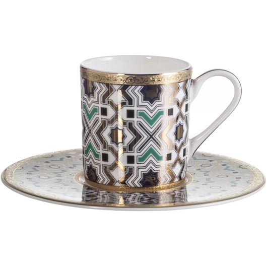 Picture of KENRIC espresso cup and saucer blue/gold