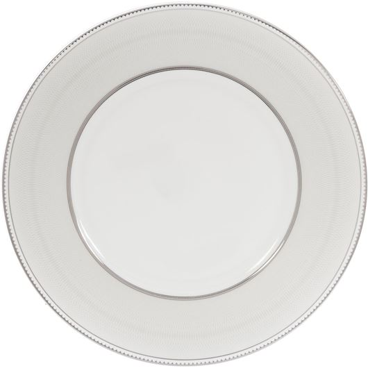 Picture of RUBEEN dinner plate d27cm white/silver