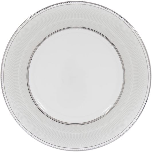 Picture of RUBEEN dessert plate d22cm white/silver