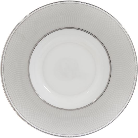 Picture of RUBEEN soup plate d24cm white/silver