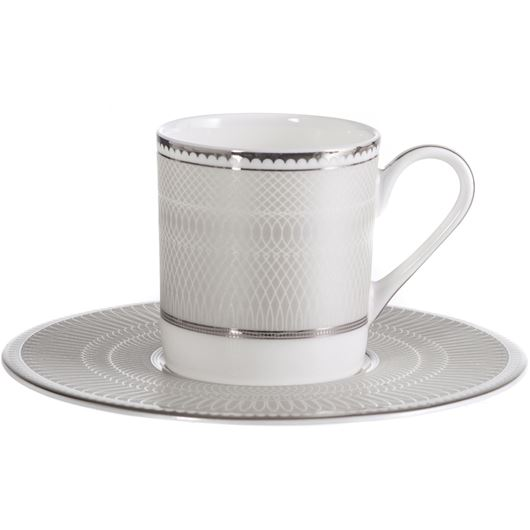 Picture of RUBEEN espresso cup and saucer white/silver