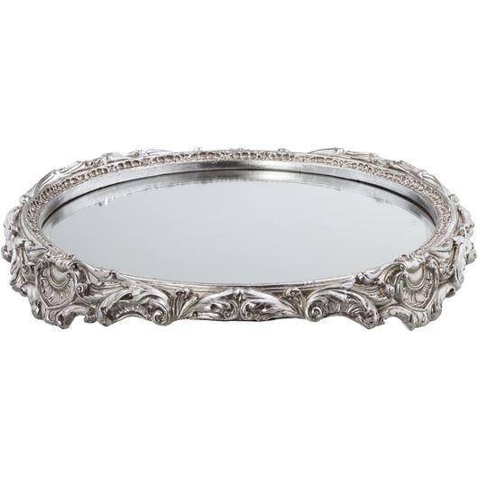 Picture of ABILENE plate decoration d48cm silver/clear