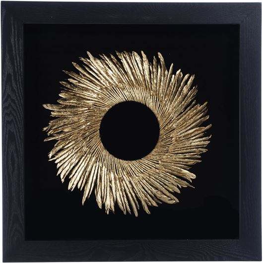 Picture of DELYN wall decoration 60x60 black