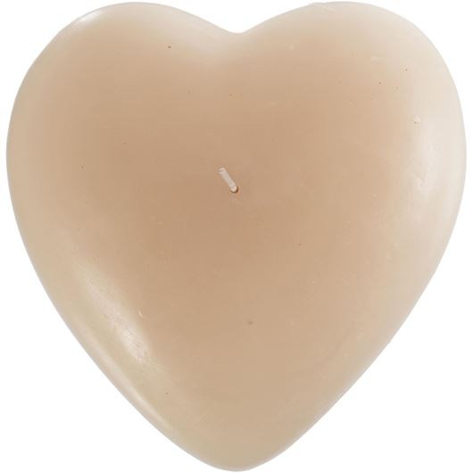 Picture of HEART candle 18x19 cream