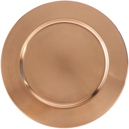 Picture of LASYA charger plate d35cm copper
