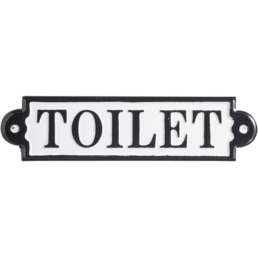 Picture of TOILET wall decoration 8x31 black and white