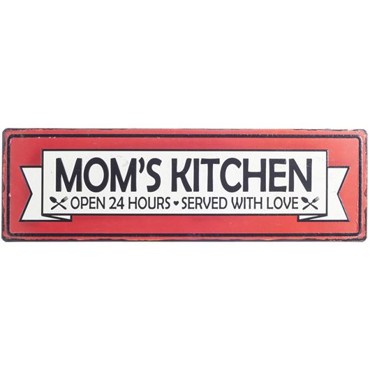 Picture of KITCHEN wall decoration 15x49 red