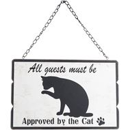 Picture of APPROVAL wall decoration 23x33 black and white
