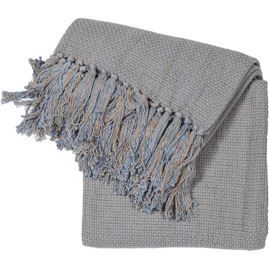 Picture of WAFFLE throw 130x170 blue/grey