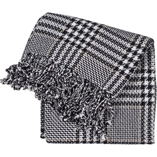 Picture of BESPOKE throw 130x170 black and white