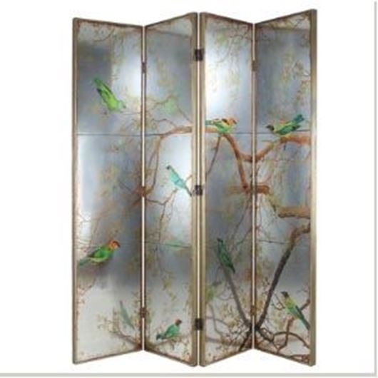 Picture of AYAKA floor screen 198x180 green/brown