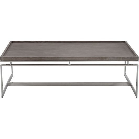 Picture of LEORA coffee table 140x80 brown/stainless steel