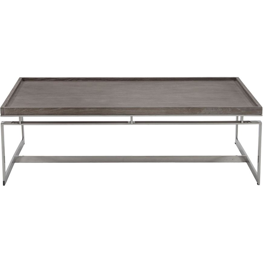 Picture Of Leora Coffee Table 140x80 Brown Stainless Steel