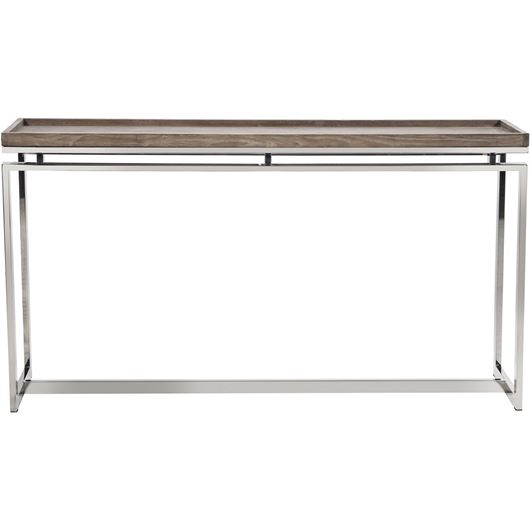 Picture of LEORA console 159x39 brown/stainless steel