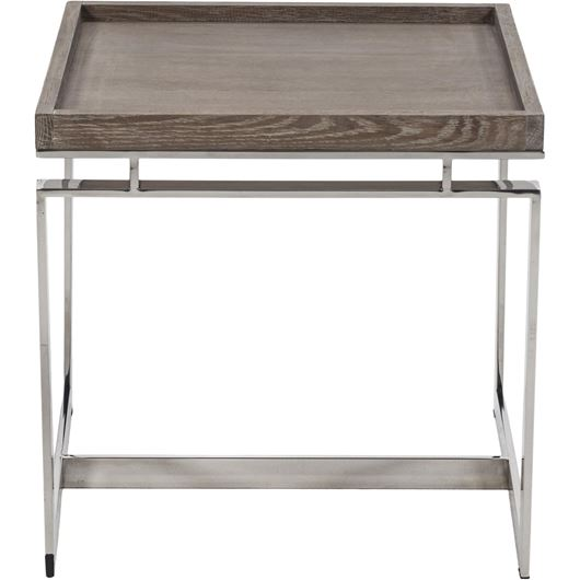 Picture of LEORA side table 55x55 brown/stainless steel
