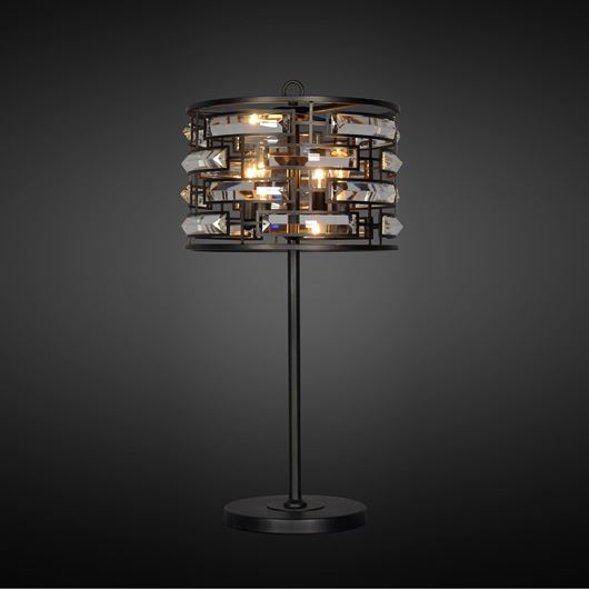 Picture of MACYN table lamp h80cm clear/black