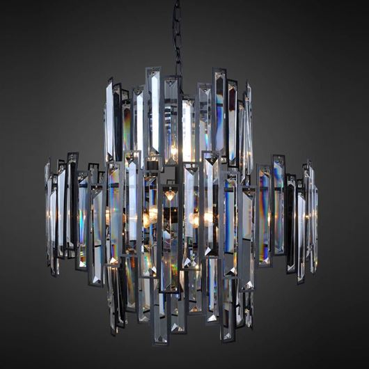Picture of BUDDY chandelier d70cm clear/black