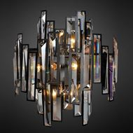 Picture of BUDDY wall lamp h42cm clear/black