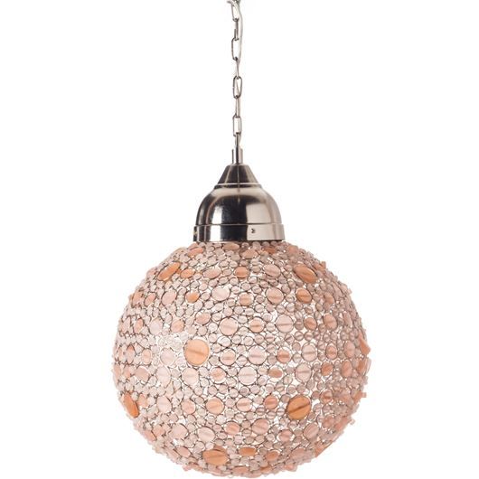 Picture of BATASHA pendant lamp d43cm pink
