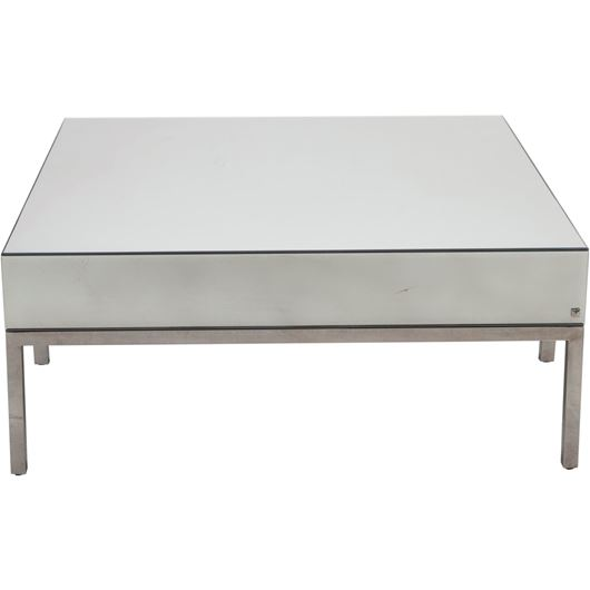 Picture of LOKA coffee table 110x110 clear/stainless steel