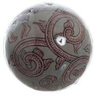 Picture of JABIO ball deco d8cm blue/brown