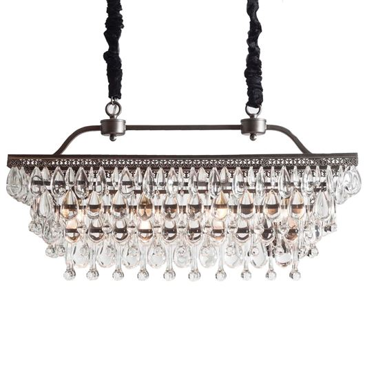 HITOMI chandelier 80x23 clear/nickel
