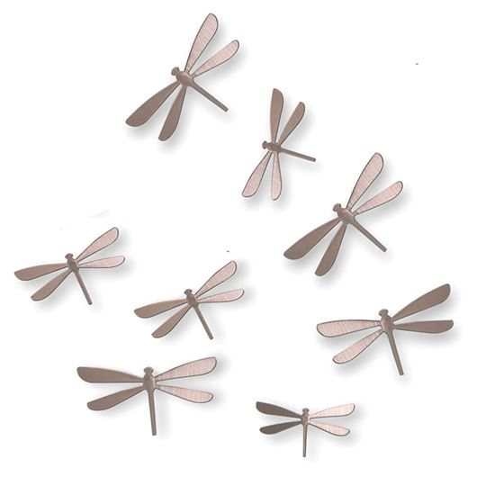 Picture of WALLFLUTTER wall decoration set of 8 nickel