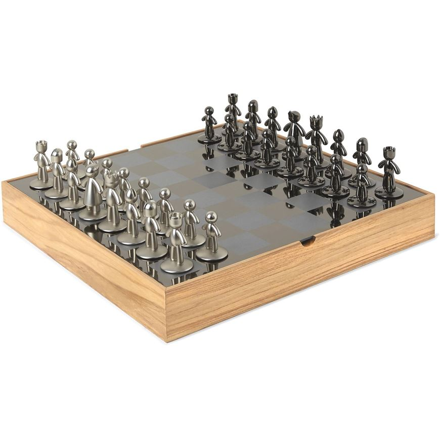 Picture of BUDDY chess set 32x32 natural