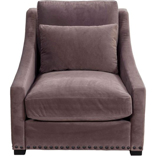 Picture of POM armchair microfibre taupe