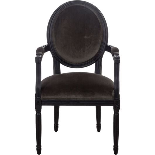 Picture of PARDON dining armchair grey/black