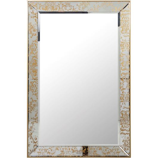 Picture of ABY mirror 150x100 clear/gold