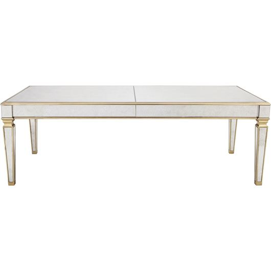 Picture of GAVIN dining table 240x110 clear/gold